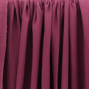 Tissus Double Gaze Ange Prune © Eyrelles Tissus