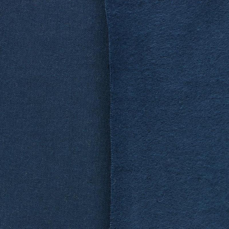 tissus Sweat brossé molleton léon Bleu Marine © Eyrelles Tissus