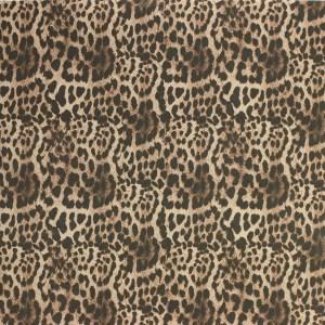 """Tissus Toile enduite polycoton """"Léopard"""" l © Eyrelles tissus"""