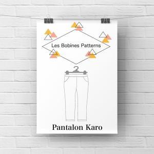 "Patron Pantalon ""Karo"" Les Bobines Patterns © Eyrelles Tissus"