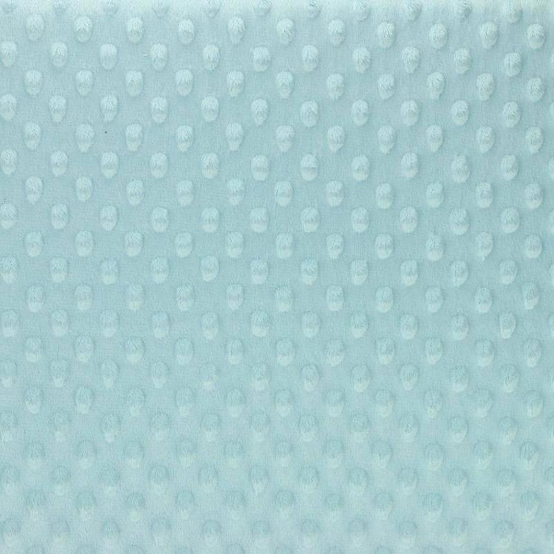 """Tissus Minky à pois """"Dolce - Bleu Clair"""" © Eyrelles Tissus"""