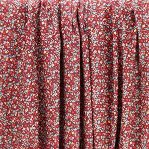 """Tissu coton imprimé """"Boscodon - Rouge"""" © Eyrelles Tissus"""