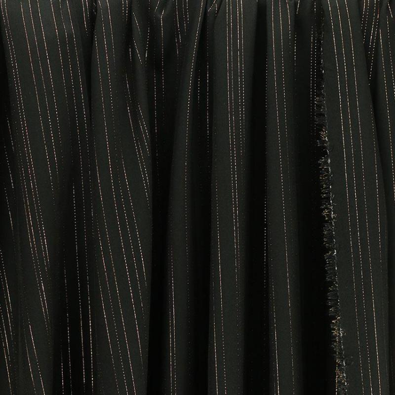 """Tissu Viscose Lurex """"Jane - Noir"""" © Eyrelles Tissus"""