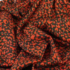 """Tissu Viscose Lurex """"Agatha - Rouge"""" © Eyrelles Tissus"""