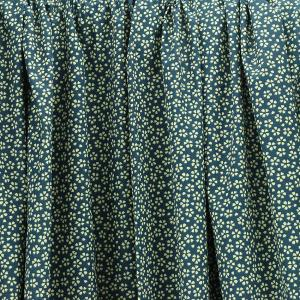 Tissu coton imprimé popeline Myosotis Bleu © Eyrelles Tissus