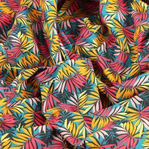 Tissu coton imprimé popeline Sao Polo © Eyrelles Tissus