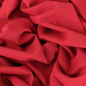 Sergé fluide poly-viscose basique Rouge Bordeaux © Eyrelles tissus