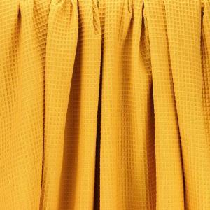Tissus Nid d'Abeille oeko tex nuage jaune moutarde © Eyrelles Tissus