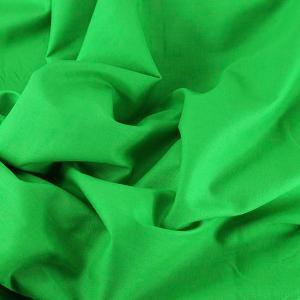 Tissu Emma 100 % Coton Uni Vert © Eyrelles Tissus