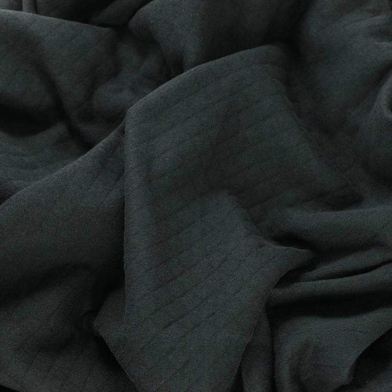 "Tissus Molleton Uni ""Osange - Noir"" © Eyrelles Tissus"