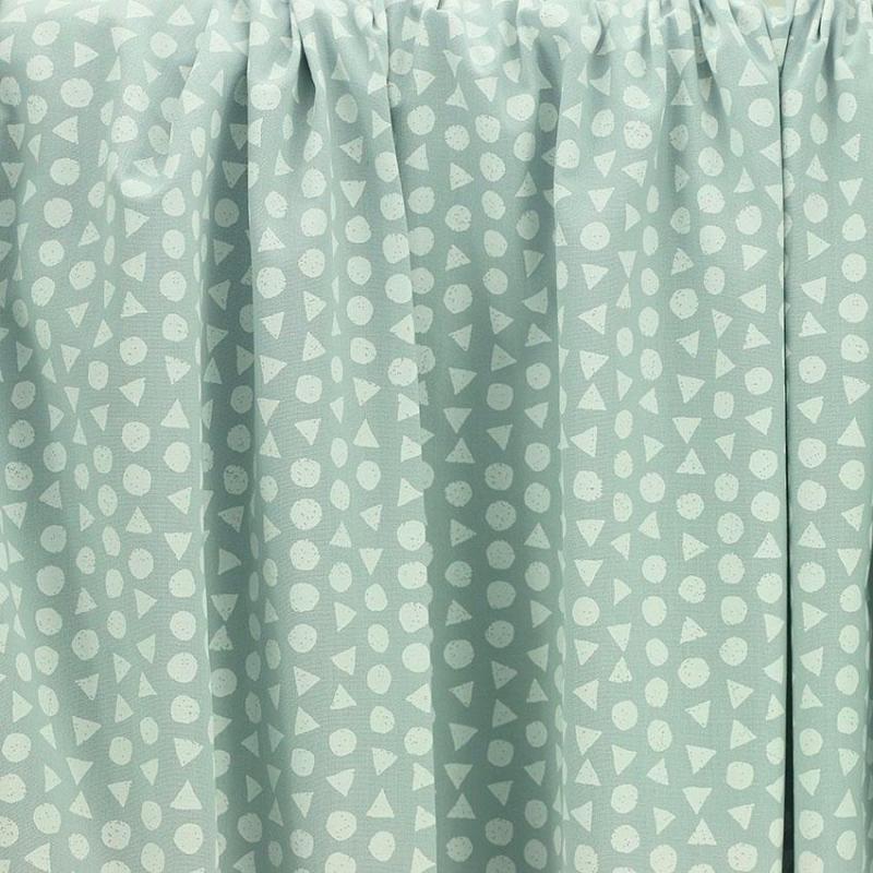 Tissu coton imprimé popeline motif géométrique triangle gris © Eyrelles tissus