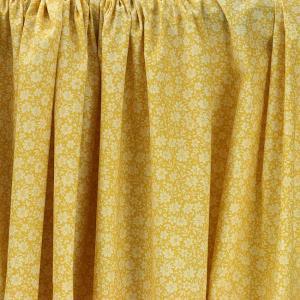 """Tissu coton imprimé """"Louisette - Jaune"""" © Eyrelles Tissus"""