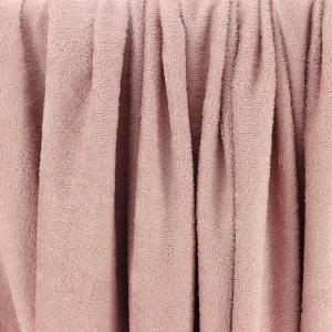 "Tissu éponge bambou Oeko Tex ""Bambou - Rose Vieux"" © Eyrelles tissus"