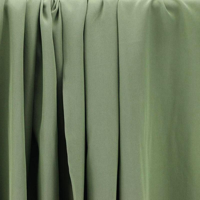 Tissus Tencel Edward Vert Kaki © Eyrelles Tissus