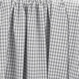 Tissu coton vichy gris 5 mm © Eyrelles Tissus