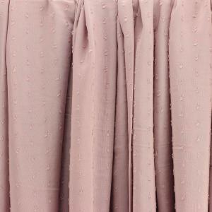 """Tissus Viscose """"Plumetis - Rose pâle"""" © Eyrelles Tissus"""