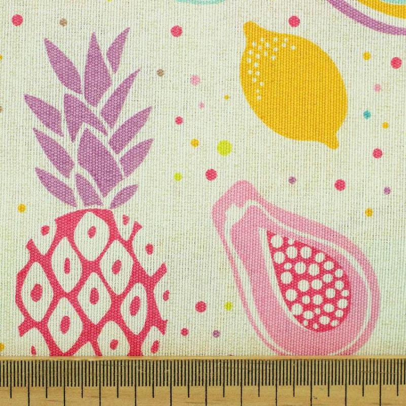 Tissu toile imprimée tissus Multifruit © Eyrelles Tissus