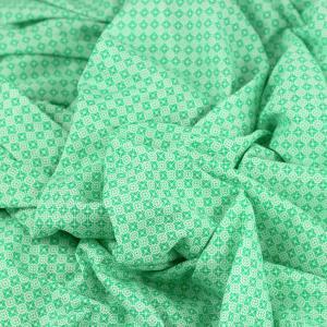 Tissu jersey coton joy vert © Eyrelles tissus