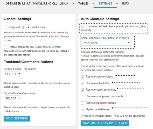 Wordpress Veritabanı Temizleme - Veritabanı Optimizasyon