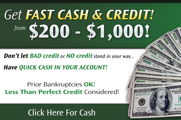 fast cash bad credit