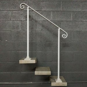 Handrail for Stairs With Base Plate