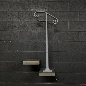 Single Post Handrail and Grab Rail for Stairs