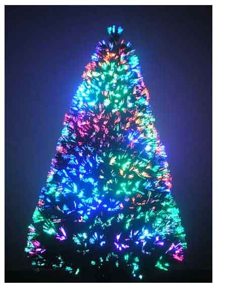 6 ft fiber optic christmas tree