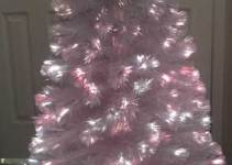 4 foot White Fiber Optic Christmas tree