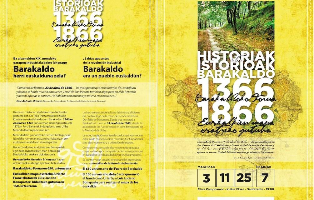 650 aniversario del Fuero de Barakaldo y 150 aniversario de la carta enviada a Luis Luciano Bonaparte