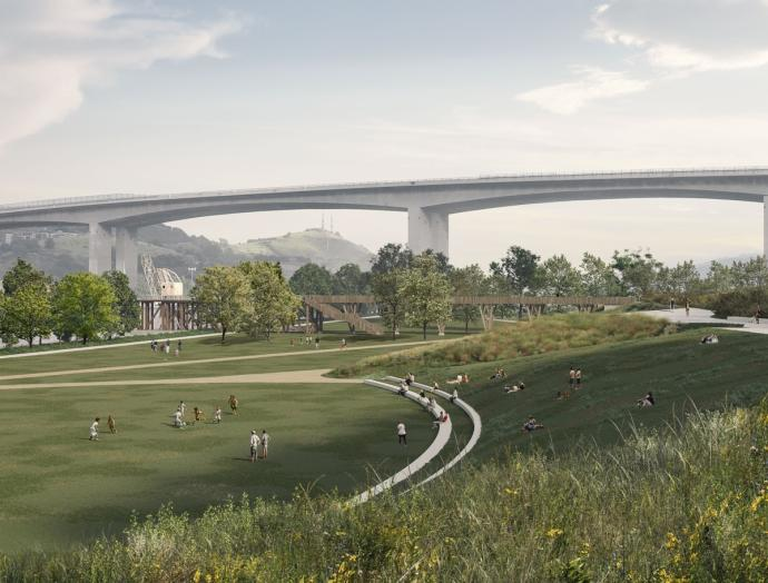 Barakaldo se asoma a la ría con el nuevo parque de Urban-Galindo