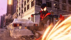 'Spider-Man: Miles Morales' Gets an Awesomely Animated 'Spider-Verse' Suit