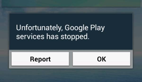 Unfortunately Google Play Services Stopped