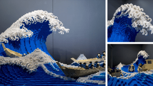 A Pro LEGO Builder Just Recreated Hokusai's 'The Great Wave off Kanagawa'
