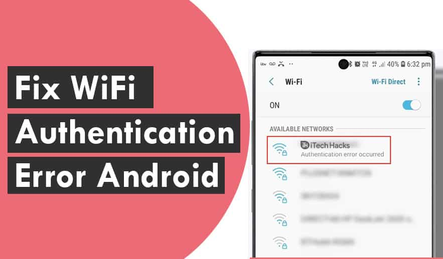 (Working) Fix WiFi Authentication Error on Android Devices 2020
