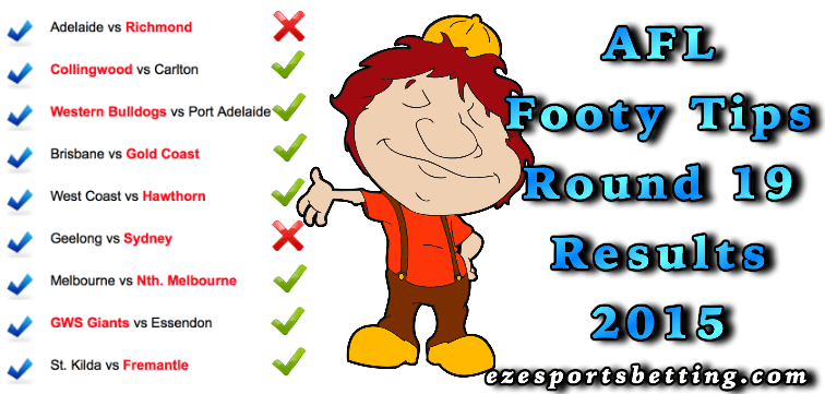 Round 19 Footy Tips Results