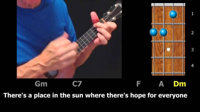 A Place in the Sun – Ukulele Chords & Lyrics – ezFolk.com