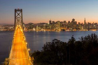 San Francisco Skyline bei Nacht