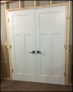 hanging interior doors before drywall