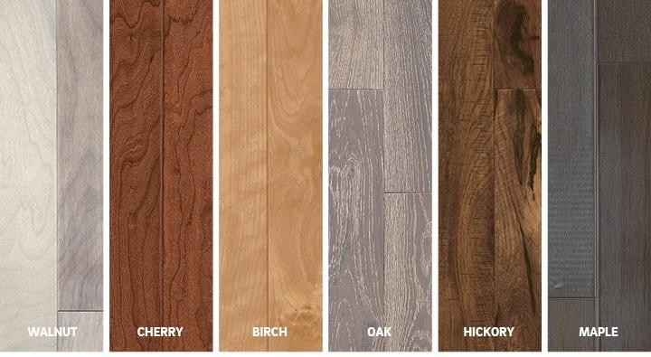 hardwood flooring species selection