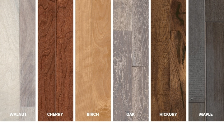hardwood flooring species selection