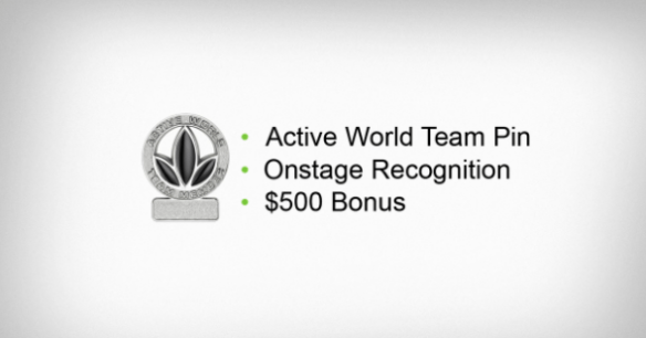 Active World Team bonus