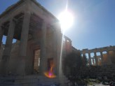 One of the three sections of the Erechtheion. Very uncharacteristic for a Classical temple. also, note the olive tree.