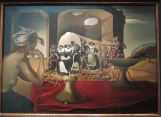 Dali Nun old woman painting