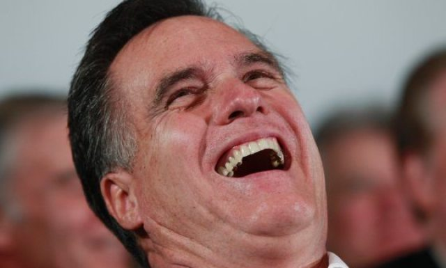 romney laughing