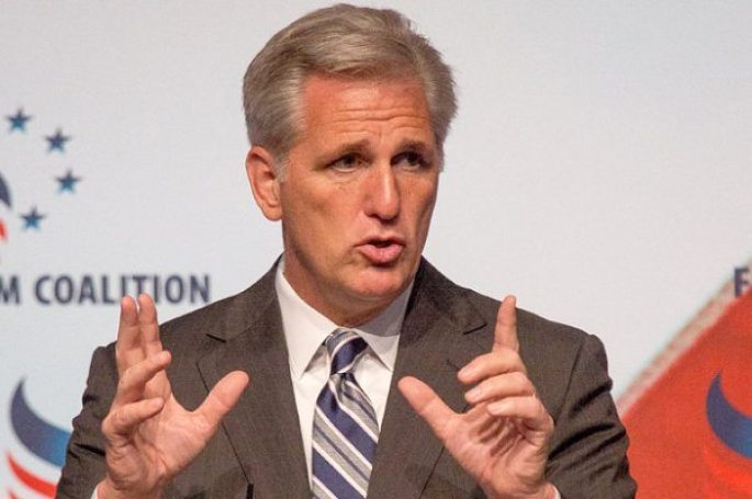 """Rep. Kevin McCarthy (R-CA), speaks at the socially conservative Faith and Freedom Coalition """"Road to Majority"""" conference in Washington D.C. on June 20, 2014. McCarthy is the Majority Leader-elect of the United States House of Representatives, elected on June 19, 2014 to replace outgoing Majority Leader Eric Cantor, who will leave the Leader position on July 31, 2014. (Photo by Jeff Malet)"""
