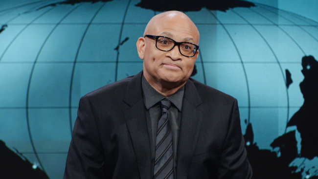 """NEW YORK, NY - JANUARY 19:  Host Larry Wilmore appears on the debut episode of Comedy Central's """"The Nightly Show with Larry Wilmore"""" at The Nightly Show Studios on January 19, 2015 in New York City.  (Photo by Stephen Lovekin/Getty Images for Comedy Central)"""