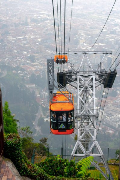 Cable Cars up & down at Monserrate. Bogota, Colombia