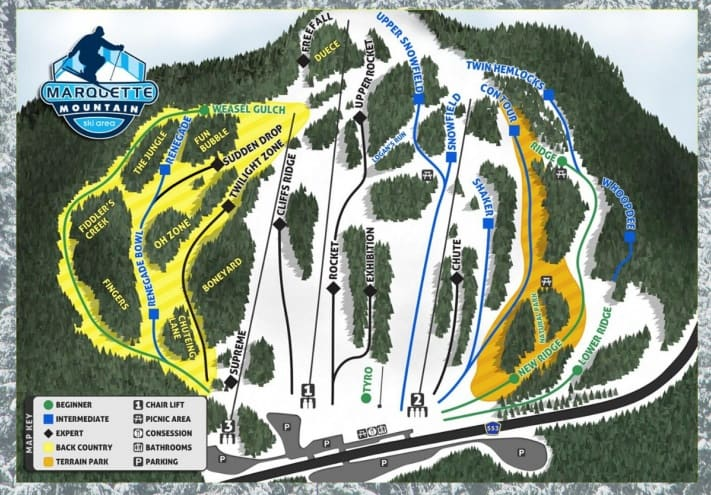 marquette mountain trail map
