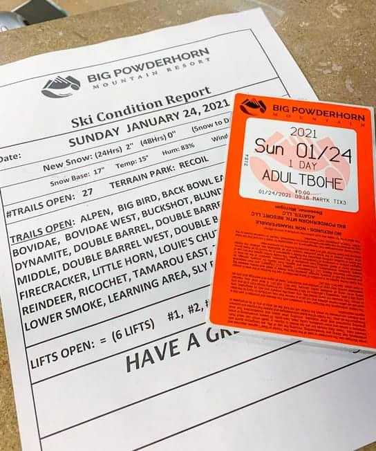 Big Powderhorn Mountain Resort Lift Ticket