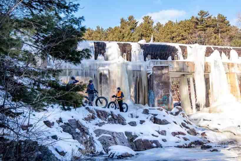 Fat Biking Ice Formations